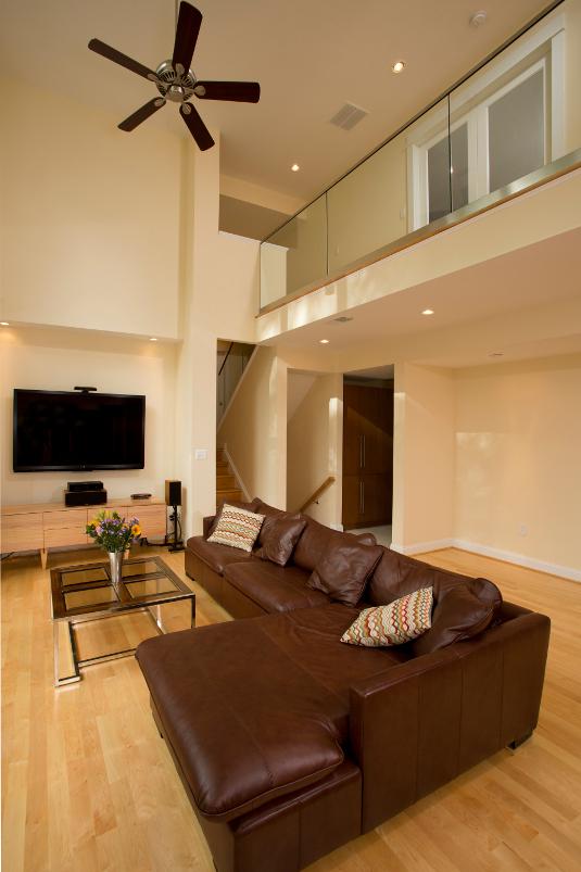 Fairfax, VA Contemporary Living Room